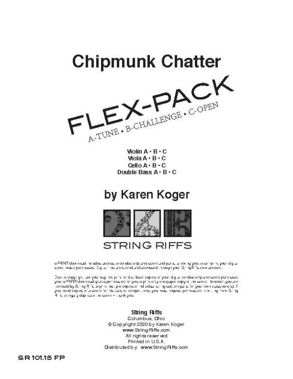 Chipmunk Chatter Flex-Pack Cover