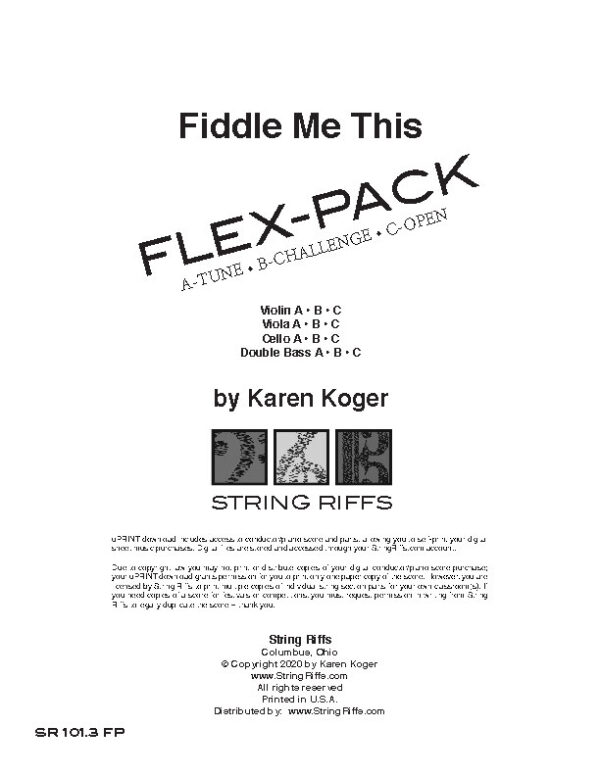 Fiddle Me This Flex-Pack Cover